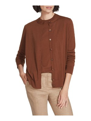 Lafayette 148 New York Button Front Wool Cardigan