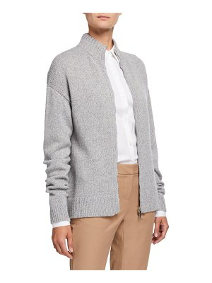 Lafayette 148 New York Cashmere Zip-Front Cardigan