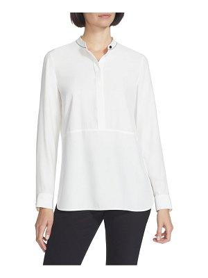 Lafayette 148 New York chain detail silk blouse