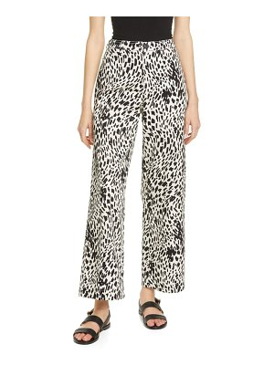 Lafayette 148 New York clark spot print twill ankle pants