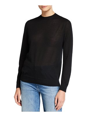 Lafayette 148 New York Crewneck Italian Finespun Cashmere Sweater