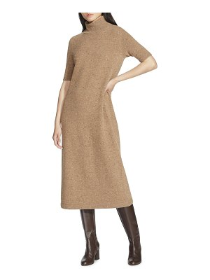 Lafayette 148 New York Donegal Wool Stand-Collar Sweaterdress