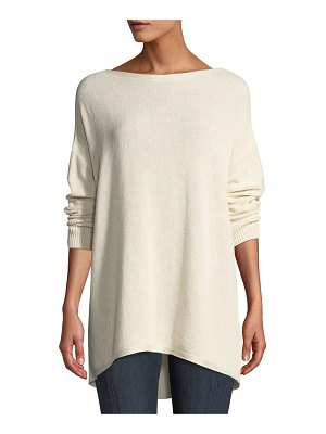 Lafayette 148 New York Drop-Shoulder Novelty Sequin Pullover Sweater