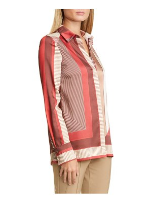 Lafayette 148 New York eric prism print twill blouse