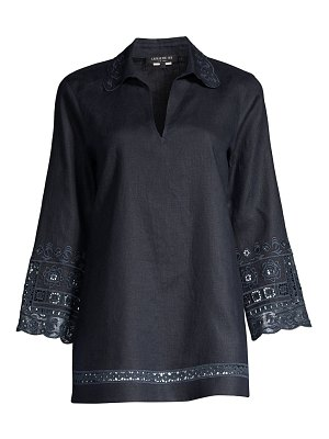 Lafayette 148 New York esperanza embroidered linen top