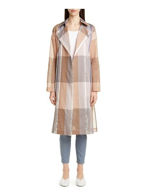 Lafayette 148 New York evangelina pavilion plaid trench coat