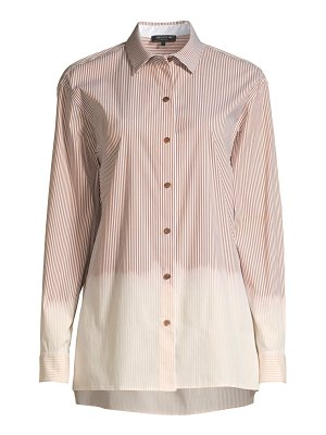 Lafayette 148 New York everson dip-dye striped blouse