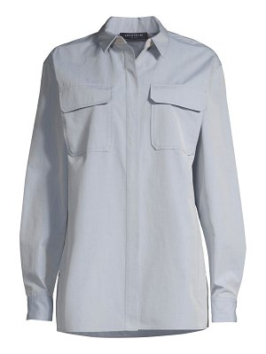 Lafayette 148 New York everson embellished collar woven shirt