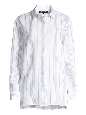 Lafayette 148 New York everson linen button-down shirt