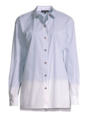 Lafayette 148 New York everson melange striped shirt