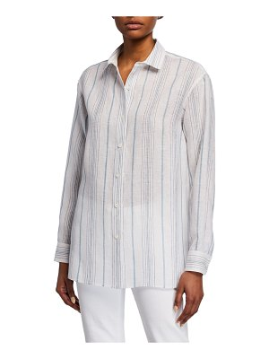 Lafayette 148 New York Everson Striped Linen Blouse