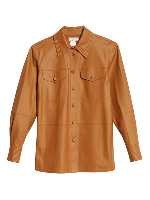 Lafayette 148 New York ezra leather shirt jacket