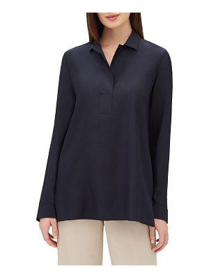 Lafayette 148 New York Finn Long-Sleeve Silk Blouse