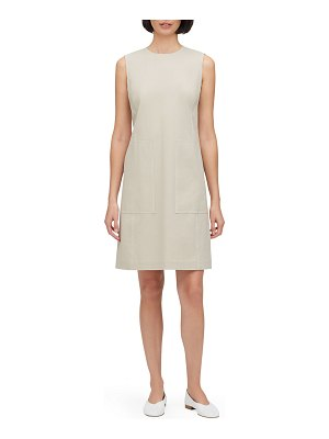 Lafayette 148 New York Giovanetta Sleeveless Fundamental Bi-Stretch Shift Dress