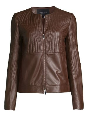 Lafayette 148 New York harrigan leather jacket