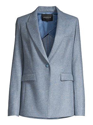 Lafayette 148 New York heather one-button blazer