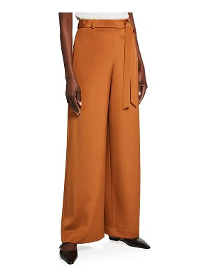 Lafayette 148 New York Jackson Stretch Crepe De Chine Wide-Leg Pants