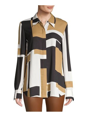 Lafayette 148 New York Julianne Abstract Shirt