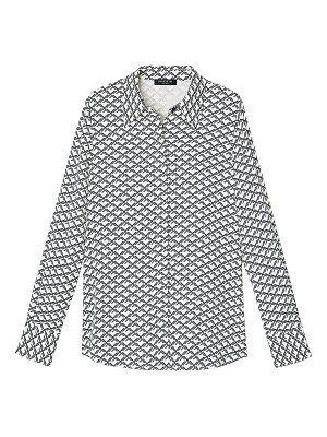 Lafayette 148 New York julianne geometric-print blouse