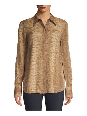 Lafayette 148 New York Julianne Python Print Shirt