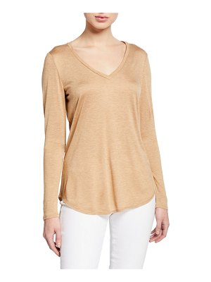 Lafayette 148 New York Kenneth V-Neck Featherweight Jersey Top