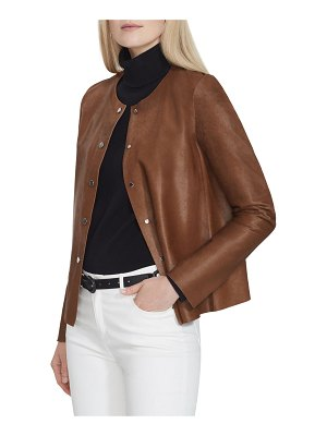 Lafayette 148 New York Leo Calf Hair Jacket