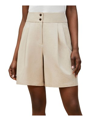 Lafayette 148 New York Leroy Pleated-Front Shorts