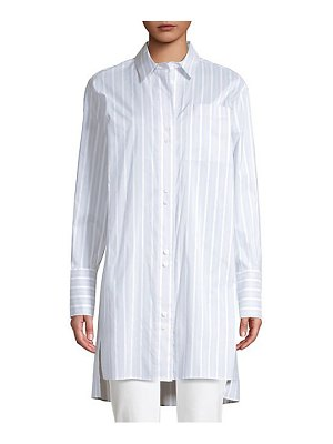 Lafayette 148 New York marvin oversized striped boyfriend shirt