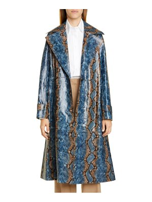 Lafayette 148 New York michael snake embossed leather trench coat
