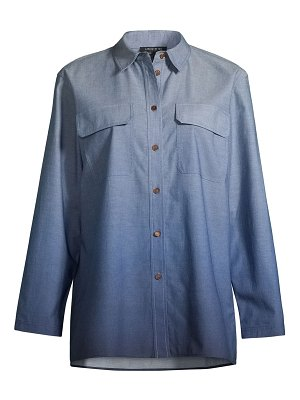 Lafayette 148 New York nicoline ombre chambray blouse
