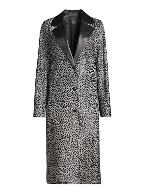 Lafayette 148 New York octavia animal-print calf hair coat