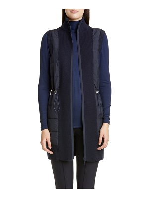 Lafayette 148 New York quilted front merino wool vest