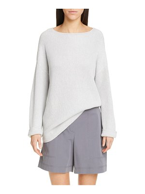 Lafayette 148 New York relaxed textured stitch sweater