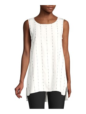 Lafayette 148 New York ruthie sleeveless silk top
