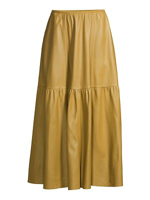 Lafayette 148 New York safford leather skirt