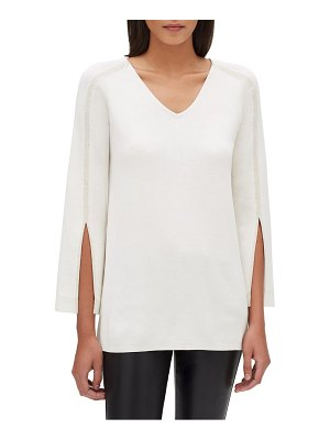 Lafayette 148 New York sequin embellished cotton blend tunic