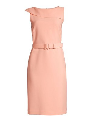 Lafayette 148 New York smith foldover belted dress