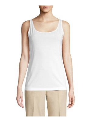 Lafayette 148 New York teagon ribbed cotton tank top
