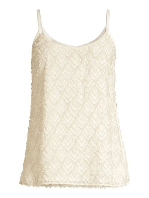 Lafayette 148 New York textured cami blouse