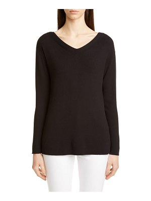 Lafayette 148 New York wide v-neck tunic sweater