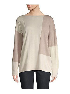Lafayette 148 New York wool colorblock sweater