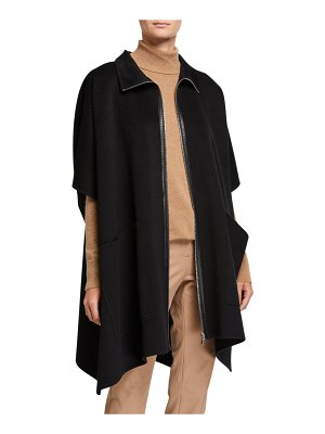 Lafayette 148 New York Zip-Front Luxe Cashmere Poncho