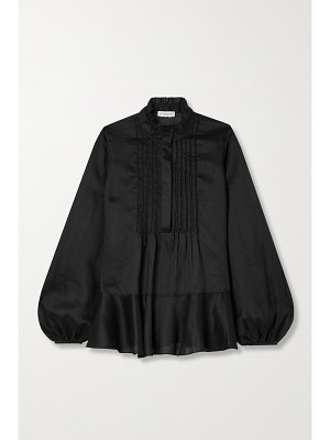 LAFAYETTE 148 raines ruffled ramie and tencel lyocell-blend blouse