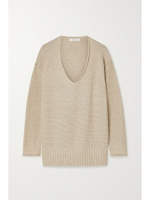LAFAYETTE 148 sequin-embellished metallic knitted sweater