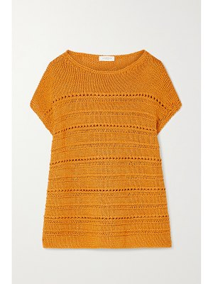 LAFAYETTE 148 sequin-embellished open-knit cotton-blend sweater