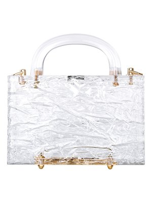L'Afshar Leon Crushed Ice Clear Acrylic Top-Handle Bag