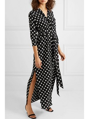 L'AGENCE cameron polka-dot silk maxi dress