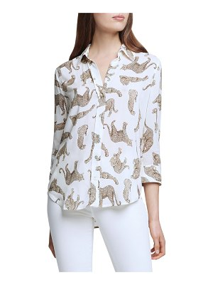 L'AGENCE Camille 3/4-Sleeve Printed Blouse