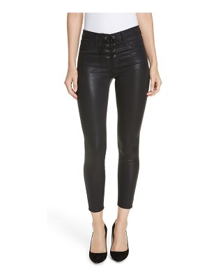 L'AGENCE cherie lace-up skinny jeans