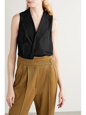 L'AGENCE freja wrap-effect silk-georgette blouse